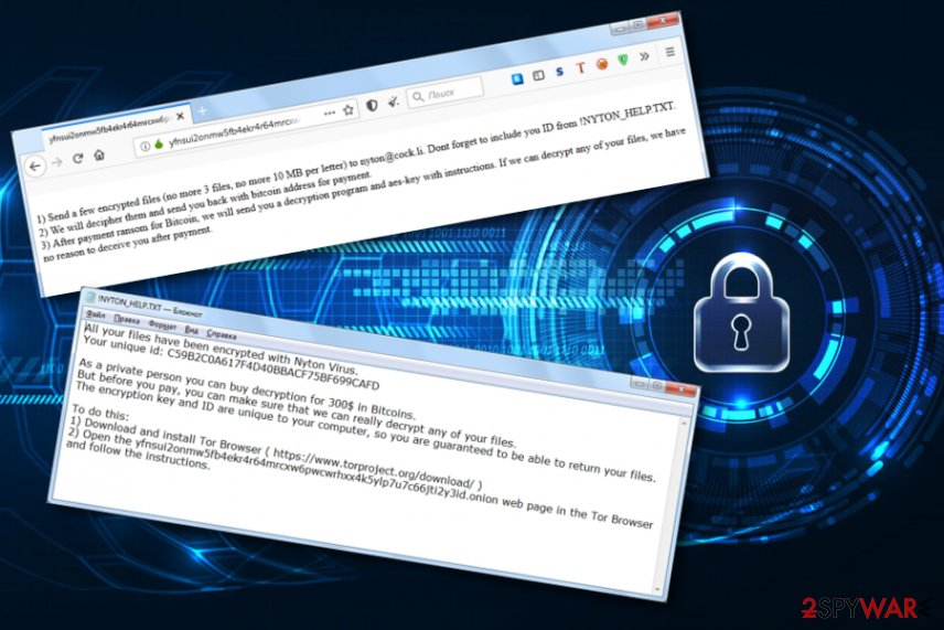 Nyton ransomware virus
