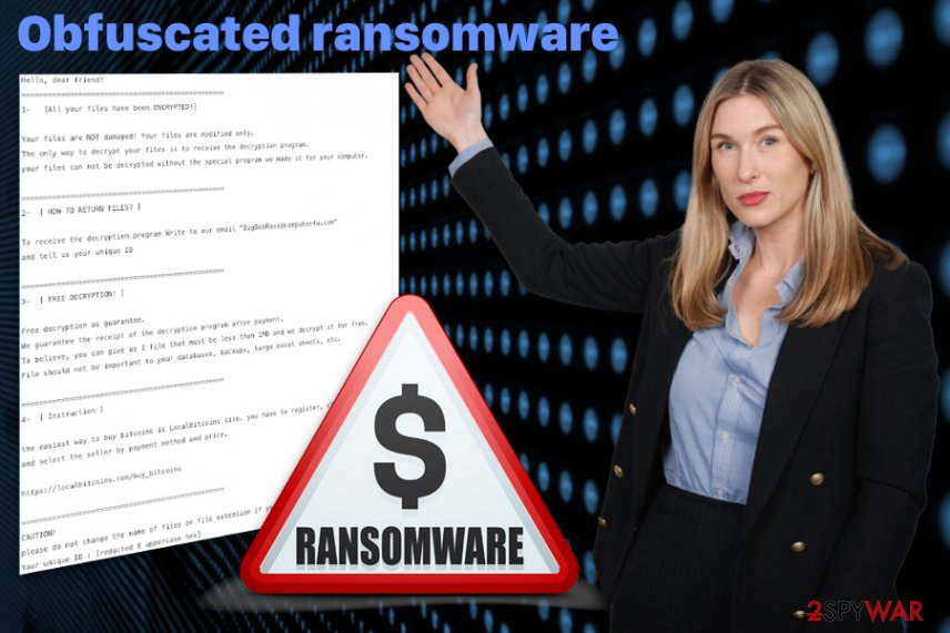 Obfuscated ransomware virus