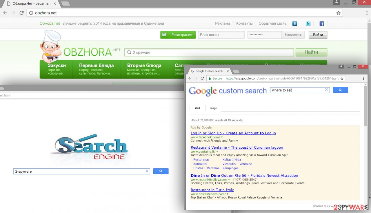 The picture of Obzhora.net virus