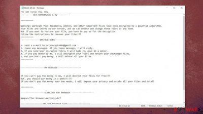 Oct ransomware