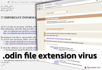 .odin file extension ransomware note
