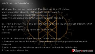 Odin virus easily encrypts files