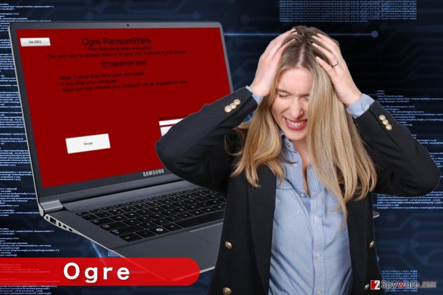 The illustration of Ogre ransomware