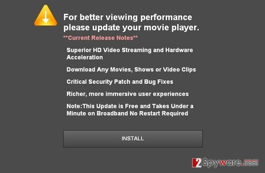 Updateplayers.com pop-up virus snapshot
