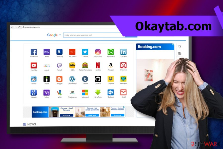 Okaytab.com virus corrupts start page
