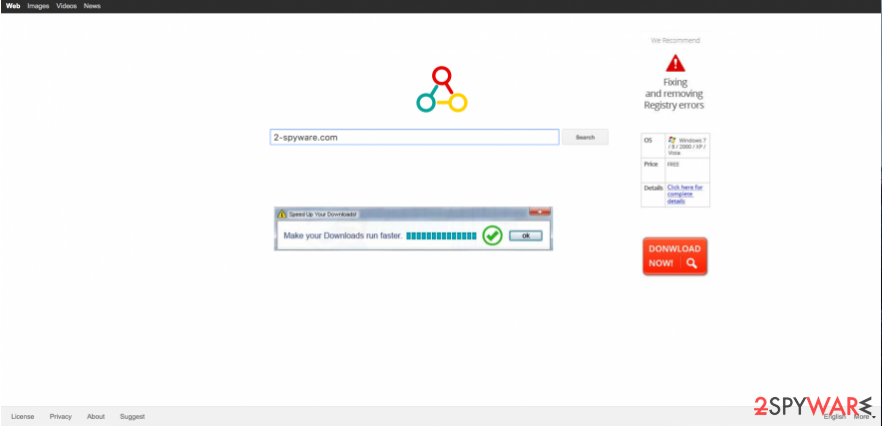 An example of Omniboxes malware and ads that are displayed by it