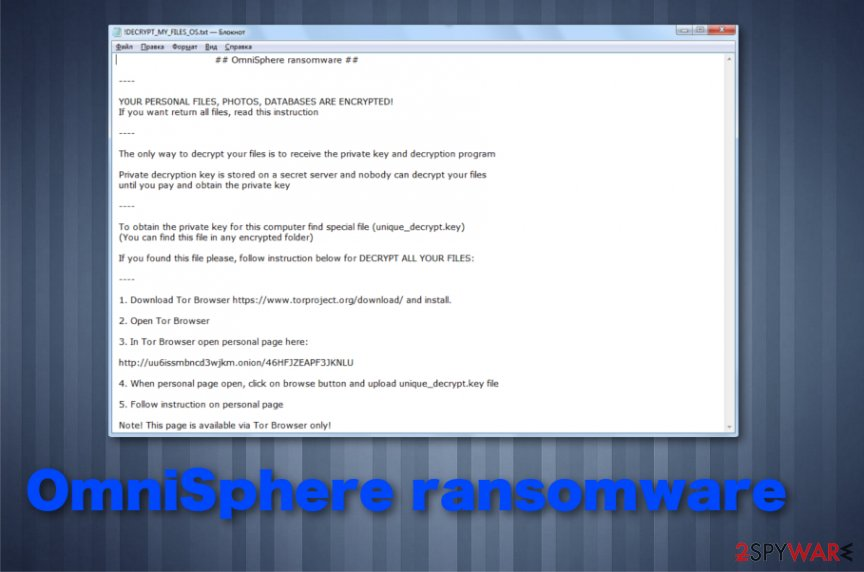 OmniSphere ransomware