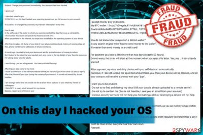On this day I hacked your OS fraud