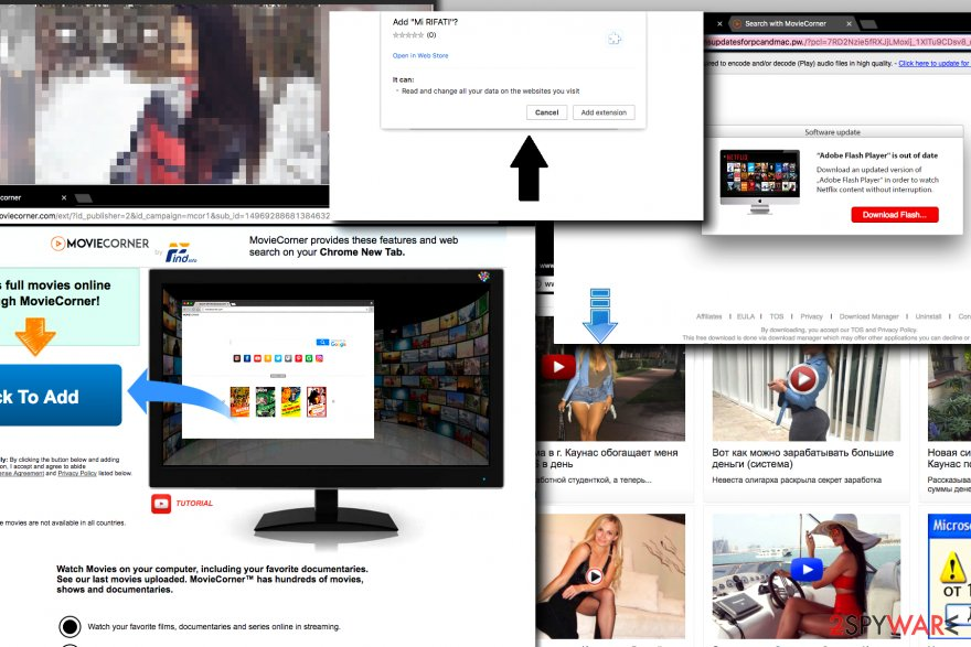 Examples of Onclickmax.com ads