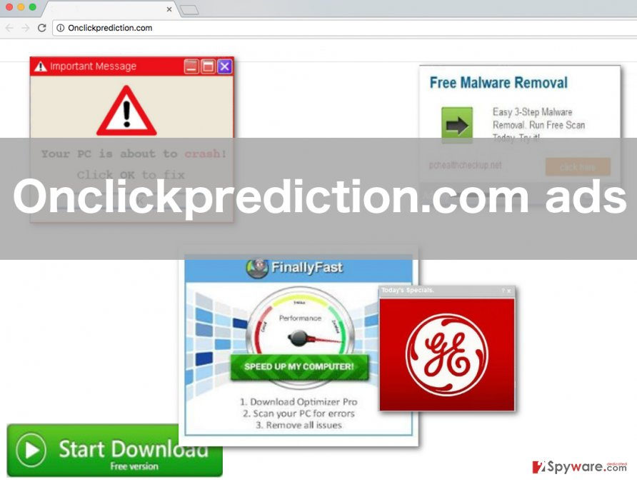 An image of the Onclickprediction.com virus