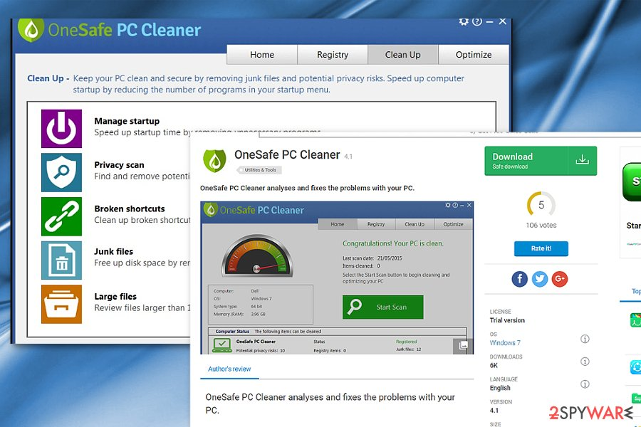 OneSafe PC Cleaner image