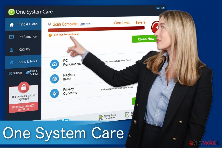 The image of fraudulent One System Care alerts