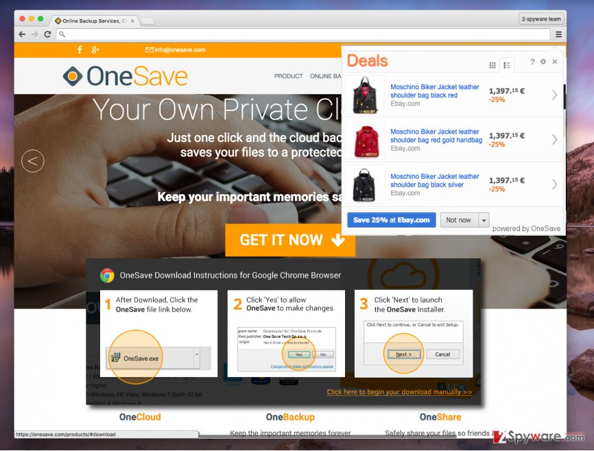 OneSave virus