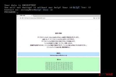 Oni ransomware virus