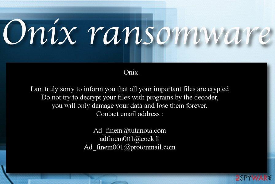 ONIX ransomware
