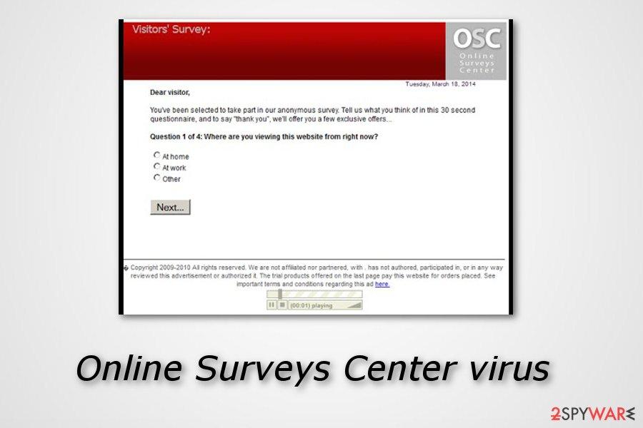Online Surveys Center adware
