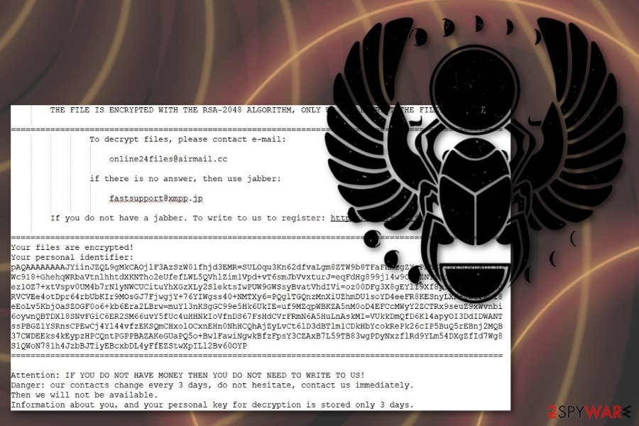 Scarab-Online24files@airmail.cc ransomware