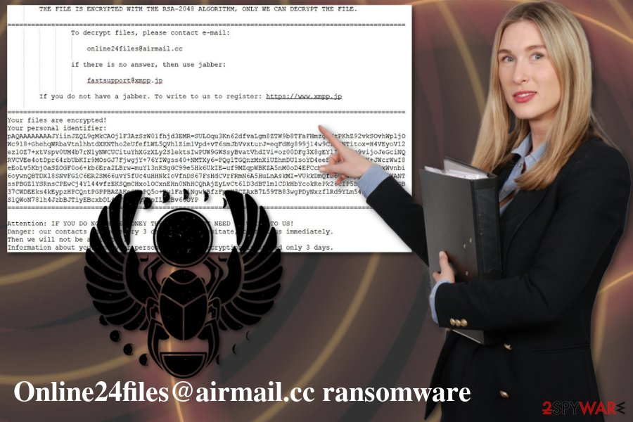 Online24files@airmail.cc ransomware virus