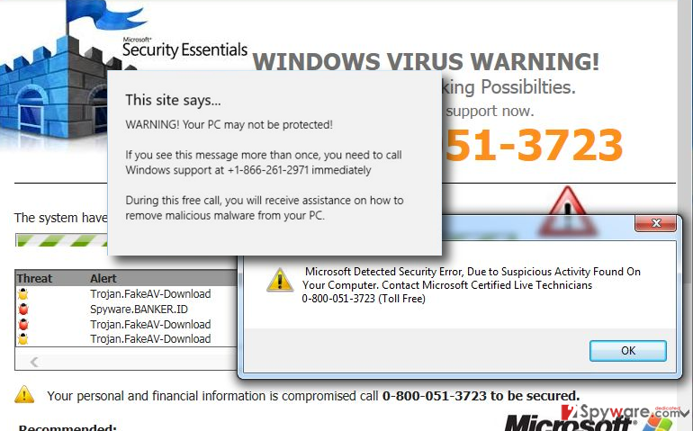 An example of Onlineantivirus.net ads warning people about supposed errors