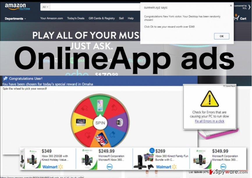 OnlineApp virus illustration