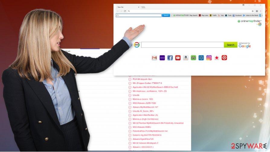 OnlineMapFinder virus