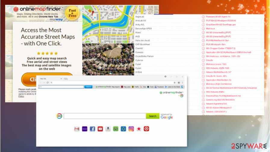 OnlineMapFinder Toolbar