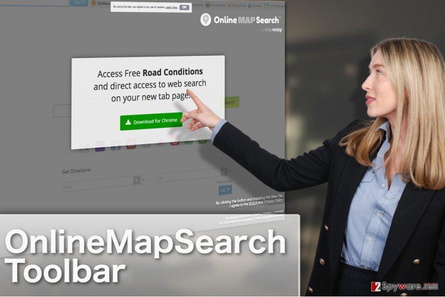 OnlineMapSearch Toolbar illustration