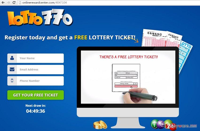 Onlinerewardcenter.com ads