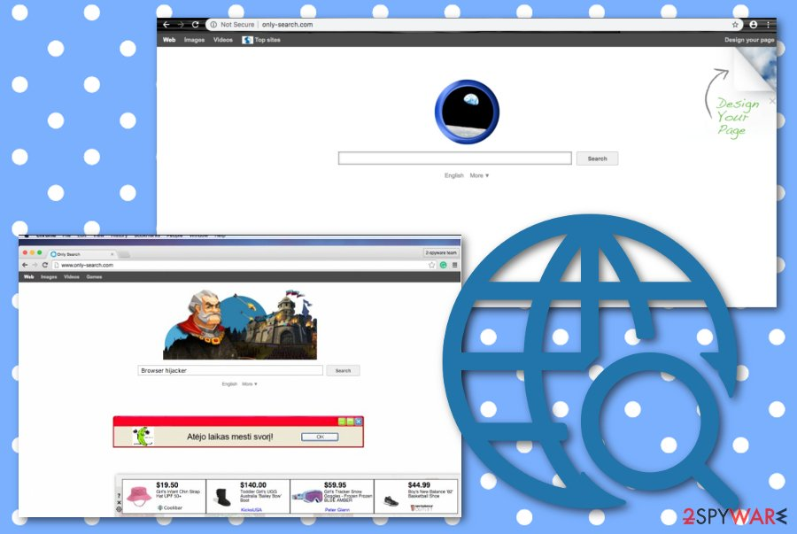 Only-search.com browser hijacker