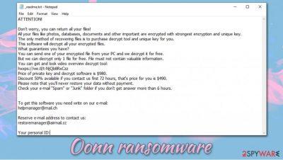 Oonn ransomware