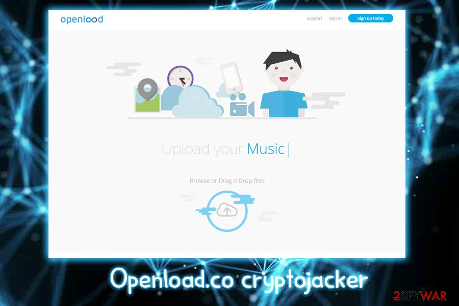 Openload.co crypto-jacker