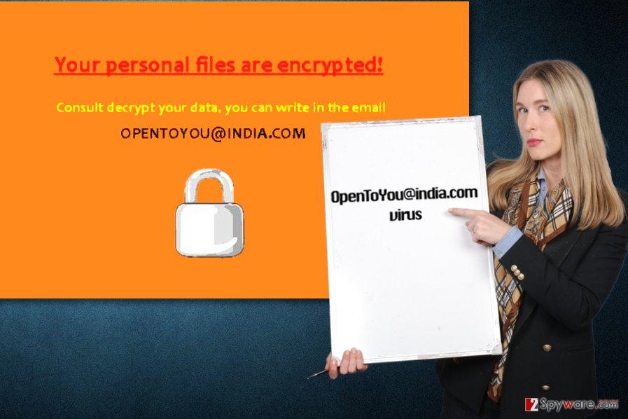 Opentoyou@india.com ransomware virus