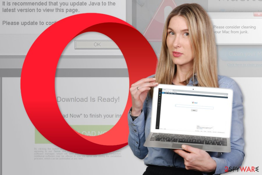 The picture of Opera redirect virus