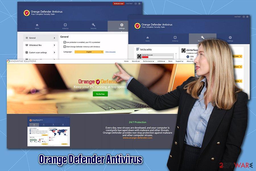 Orange Defender Antivirus PUP