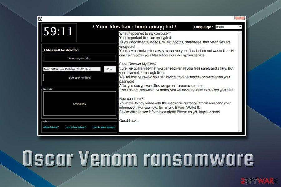 Oscar Venom ransomware