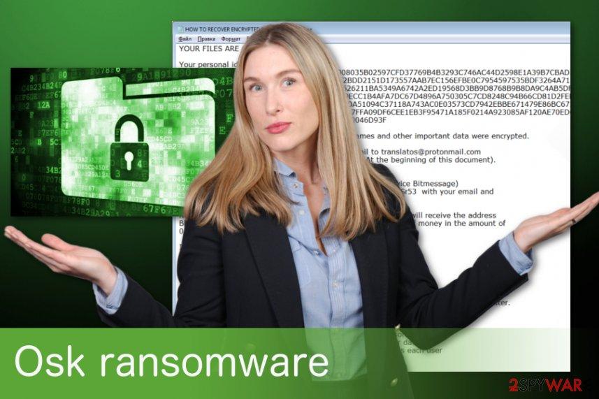 Osk ransomware virus example