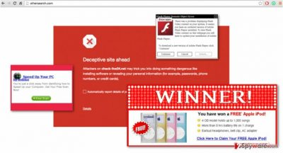 An example of ads generated by the OtherSearch virus
