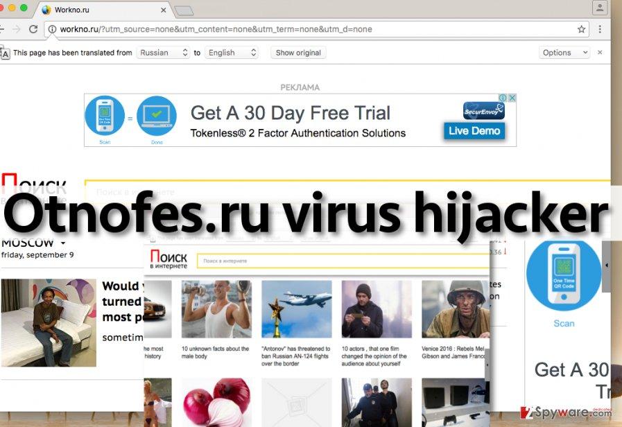 Otnofes.ru virus changes homepage URL