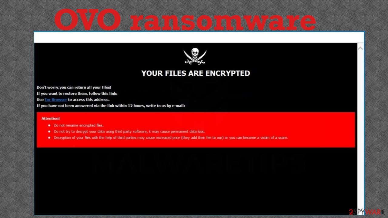 Ovo ransomware note