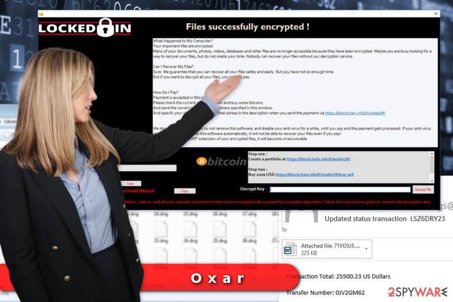 Image of Oxar ransomware virus