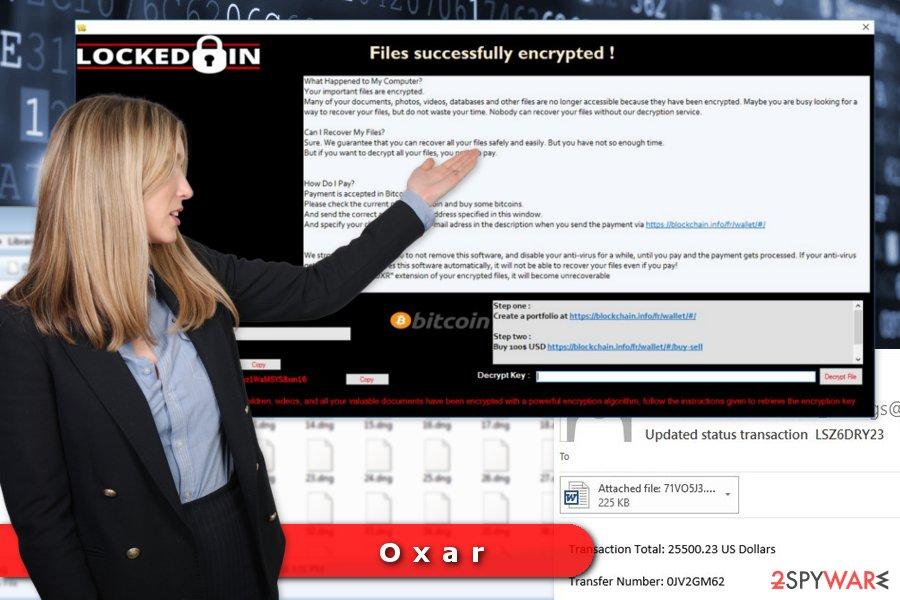 Image of Oxar ransomware virus