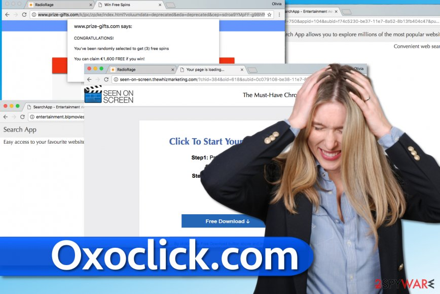 Oxoclick.com redirect virus brings highly intrusive pop-ups