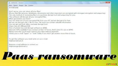 Paas ransomware