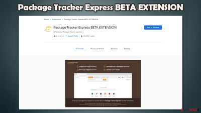 Package Tracker Express BETA EXTENSION
