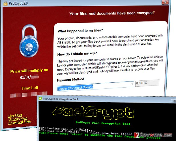 PadCrypt ransomware