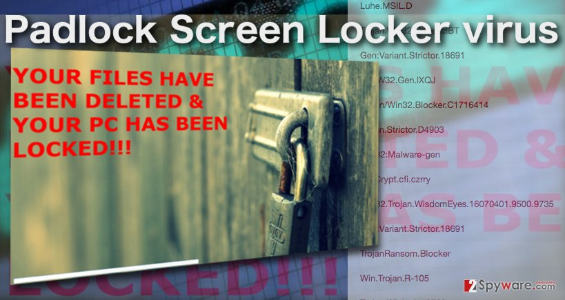 The picture of PadLock screenlocker
