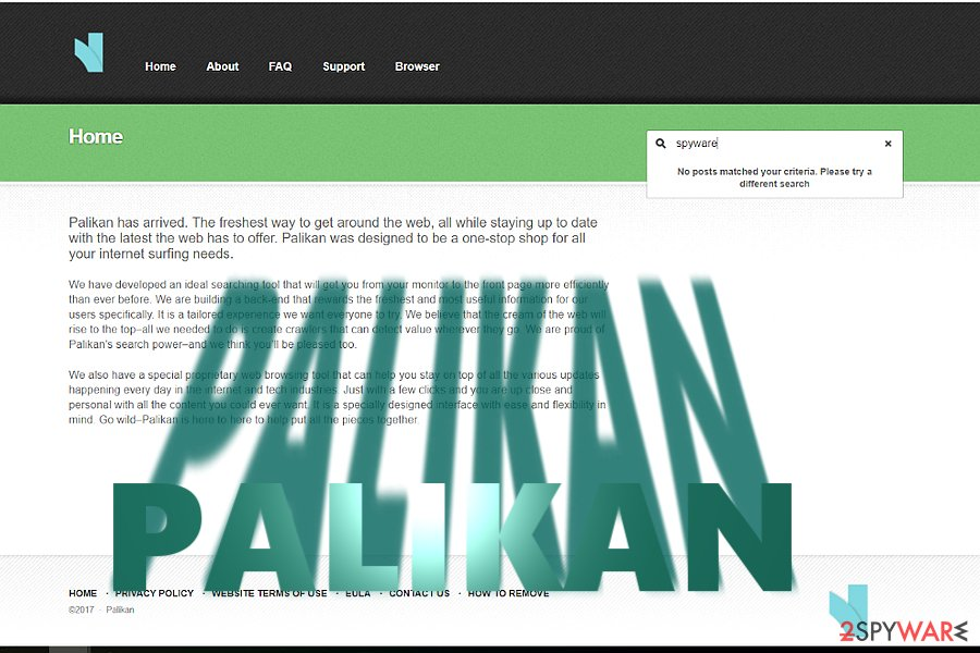 The example of Palikan.com browser hijacker