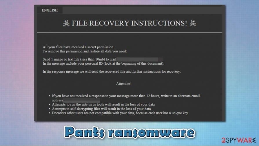 Pants ransomware