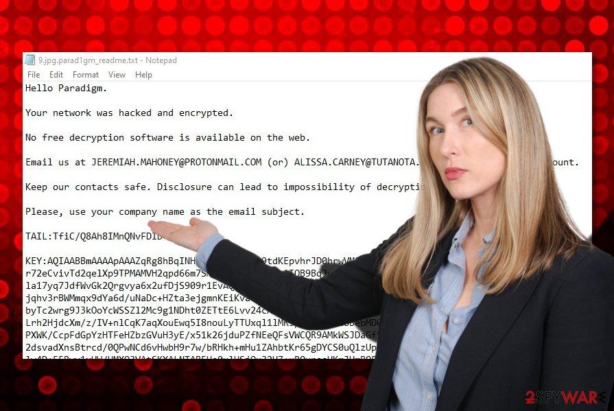 Parad1gm ransomware