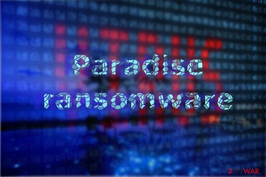 Paradise ransomware illustration